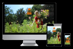 De website stadstuinkweekland.nl weergegeven op verschillende devices